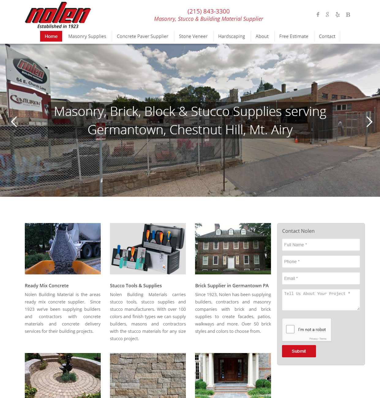custom website design from building supply company
