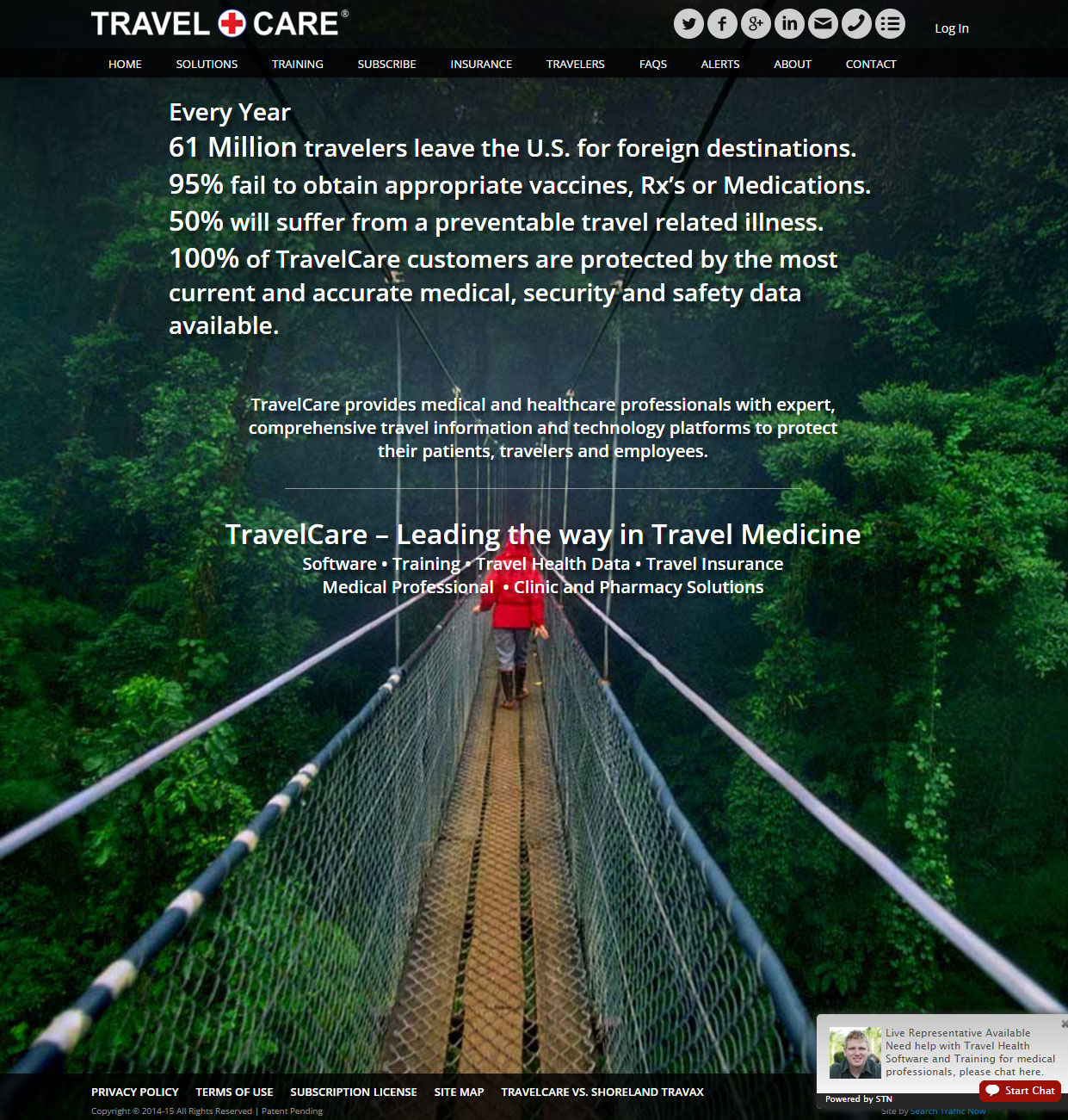 travel medicine custom website